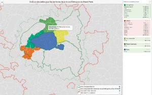 Une interface de data visualisation permet également de générer des regroupements de communes à l'échelle de la région, tels que prévus par la loi de modernisation de l'État (300 000 habitants minimum).