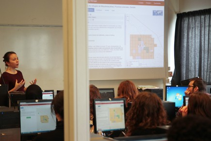 La journée d'étude « la géomatique au secours des réfugiés » s'est achevée par une cartopartie avec CartONG et Singa sur le projet The Missing Maps.