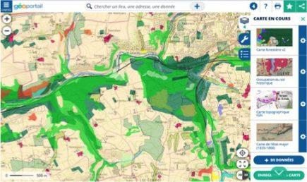 Finistère - Occupation du sol historique, carte forestière v2 et carte topographique IGN © Géoportail / IGN