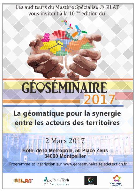 Géoséminaire : La géomatique pour la synergie entre les acteurs des territoires @ Montpellier