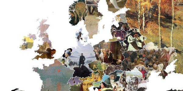 Les œuvres d'art célèbres d'Europe en carte