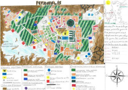 La carte de Petropolis réalisée par Pierre Delestre