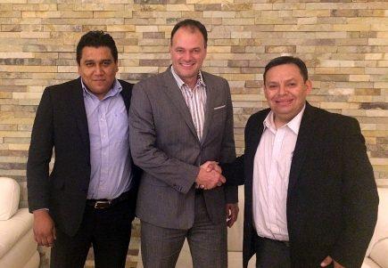 De gauche à droite : Juan Morado, Dany Bouchard et Alfredo Gonzales