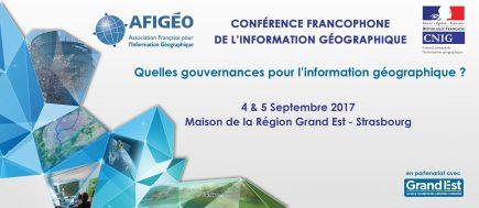 Conférence francophone de l'information géographique @ Strasbourg
