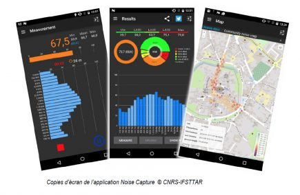 Copies d'écran de l'application Noise Capture