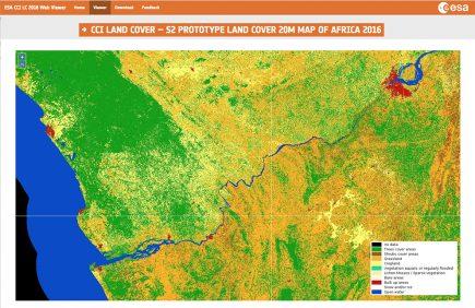 Une interface pour découvrir la nouvelle occupation du sol de l'Afrique à 20 m de résolution.