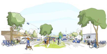 Quayside : Un quartier qui fera la part belle aux mobilités douces et aux véhicules autonomes.