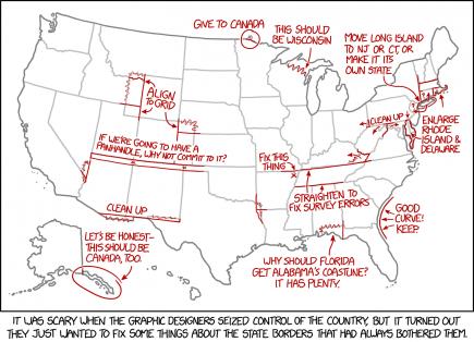 La carte des Etats-Unis vue par un graphiste