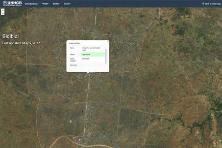 Pour l'UNHCR, CartONG a développé un webSIG sur les camps qui associe informations très détaillées et vision d'ensemble.