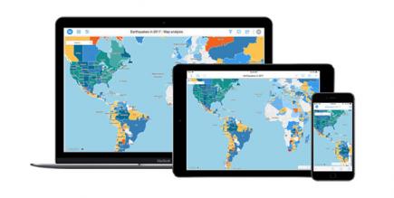 Des fonctions cartographiques accessibles sur les différentes plateformes MicroStrategy
