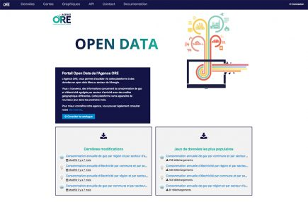 Page d'accueil https://opendata.agenceore.fr
