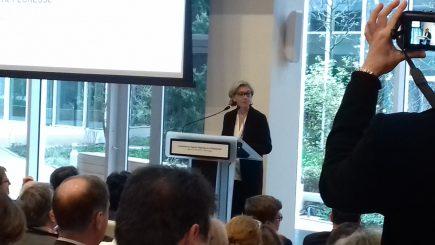 Discours de Valérie Pécresse lors de l'inauguration de l'ARB. (image extraite du fil twitter @vpecresse)