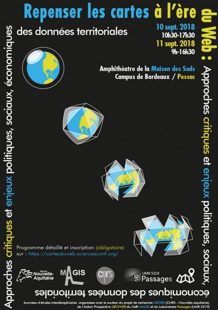 Repenser les cartes à l'ère du Web. Approches critiques et enjeux socio-politiques et économiques des nouvelles données territoriales @ Bordeaux Pessac