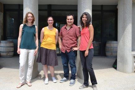 L'équipe de La TeleScop. De gauche à droite : Sophie Ayoubi, Claire Dupaquier, Bastien Nguyen Duy et Julie Chaurand.