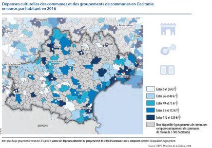 Les dépenses culturelles par commun en Occitanie
