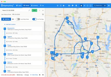 Optimisation de rendez-vous sous MapAnything