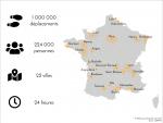 Le Mobiliscope s'étend sur 22 villes françaises