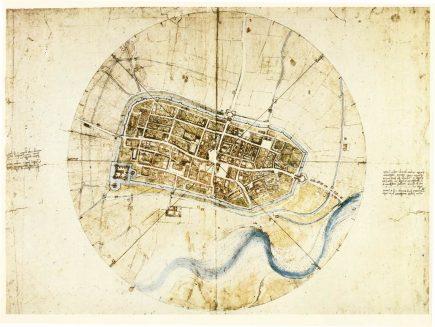 La carte d'Imola de Léonard de Vinci