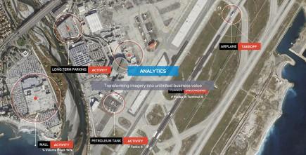 Google-Skybox ne vend plus des images ou des vidéos mais de l'analyse pour doper votre business : évolution du niveau dans des réservoirs de pétrole, fréquentation d'un centre commercial via le comptage régulier des véhicules, suivi de l'activité d'un aéroport… (Document Skybox)
