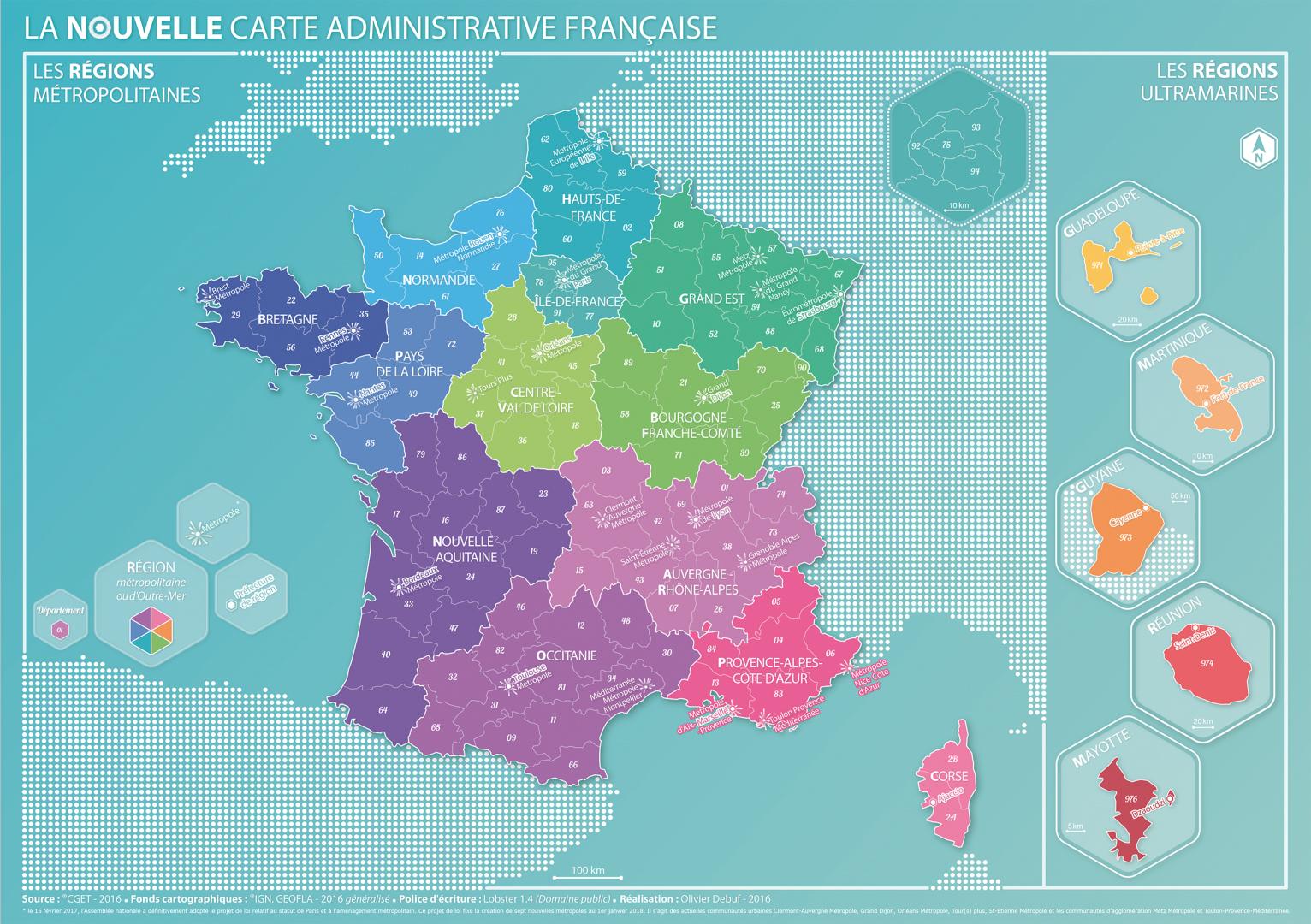 Coup De Jeune Sur La Carte Des Regions Decryptageo L Information Geographique