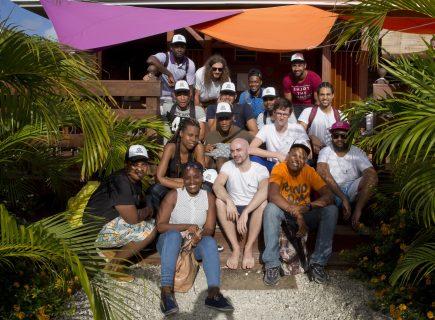 Dernière photo de famille avec les étudiants de l'école Simplon.