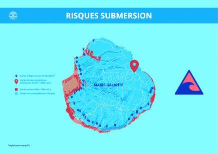 Les zones de submersion, récupérées depuis Exploit et mises en image par Antoine