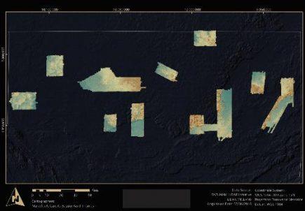 Carte de tout le nord du Petén au Guatemala indiquant les 11 zones couvertes par l'imagerie Lidar. (© Pacunam Lidar Initiative, M. Canuto et L. Auld-Thomas)