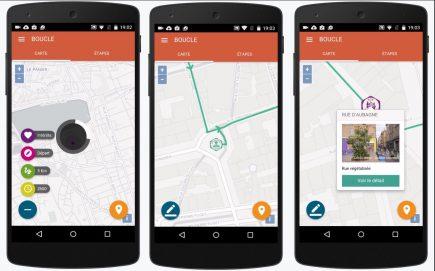 """Quelques écrans de la future application """"Mon jardin en ville"""" de Natural Solutions"""