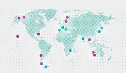 Les stations SSC dans le Monde