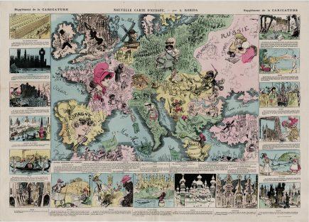 l'Europe vue par Albert Robida, caricaturiste