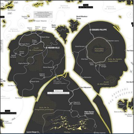 """""""Bienvenue en Macronie"""", une cartographie originale de Jules Grandin pour Les Echos"""