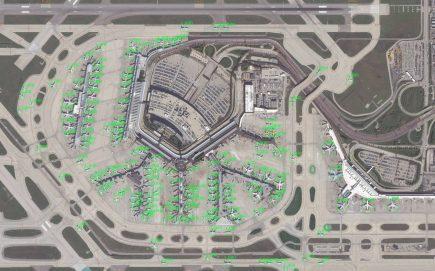 Identification et comptage automatique des avions sur l'aéroport de Chicago avec GATR (document Lockheed Martin)