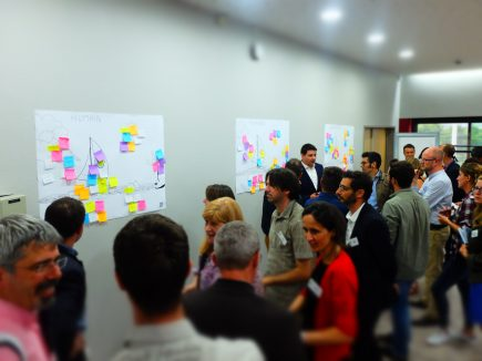 Séance de brainstorming productive autour des questions de gouvernance des geodata