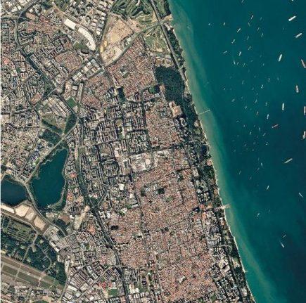 Acquisition des nano-satellites Doves sur le détroit de Singapour (29.07.2016) ©Planet