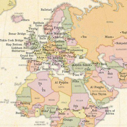 La carte malpolie de l'Europe et d'une partie de l'Afrique (ST&G)