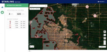La couche déforestation de Starling (image Airbus)
