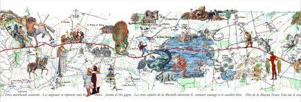 Un extrait du dernier ouvrage d'art cartographique de Ghislaine Escande